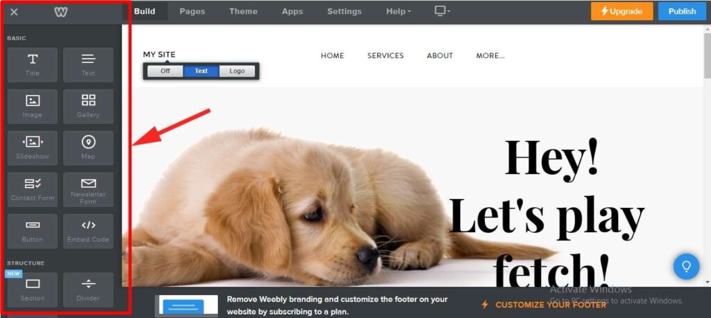 create blog on Weebly 4