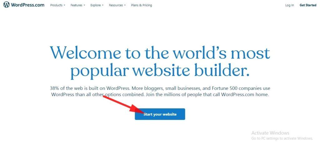 create blog on WordPress