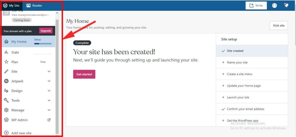 create blog on WordPress 4
