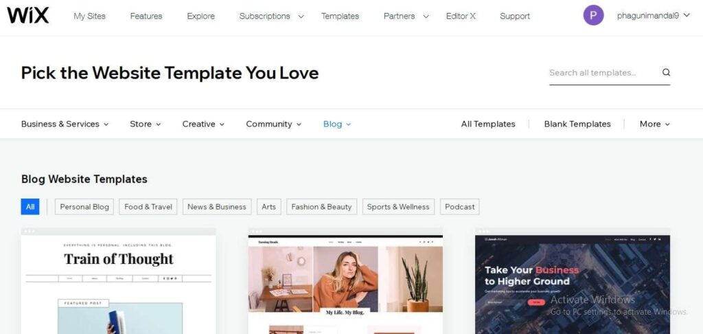 create blog on wix 4