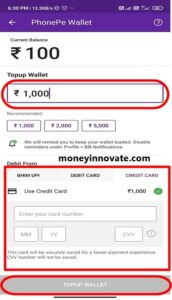 add money in phonepe wallet