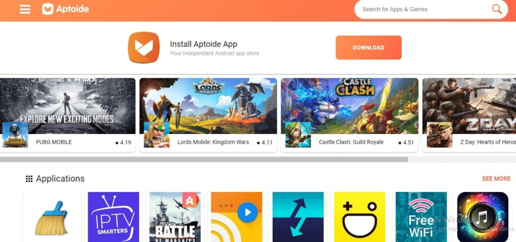 Aptoide - download karne ke liye apps