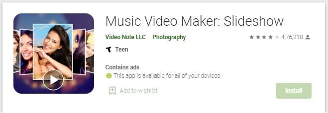 Music Video Maker Slideshow