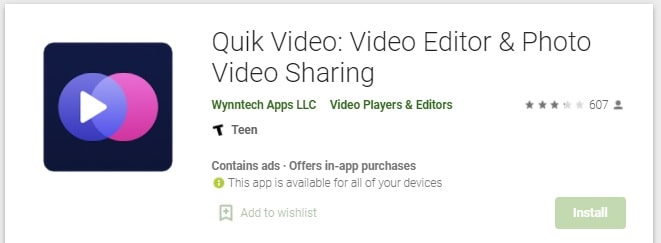 Quik- Free Video Editor For Photos, Clips, Music