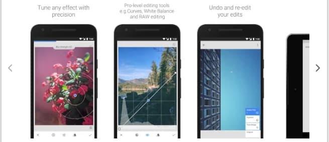 Snapseed – फोटो बनाने वाला ऐप्स