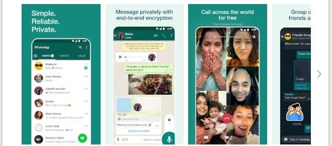 WhatsApp Messenger Video Chat Apps