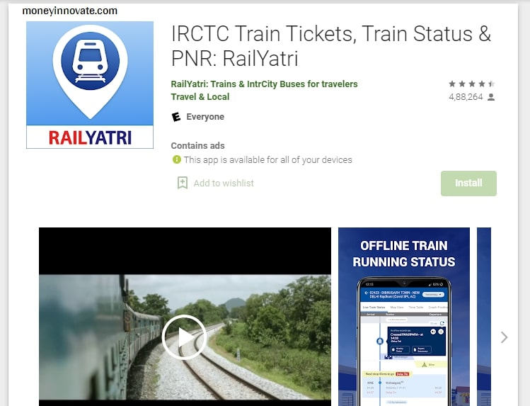 train check karne wala apps