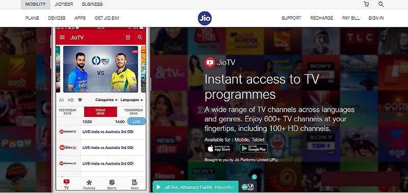 JioTV – LIVE Cricket Score