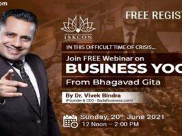 Business Yoga with Bhagavad Gita Dr. Vivek Bindra