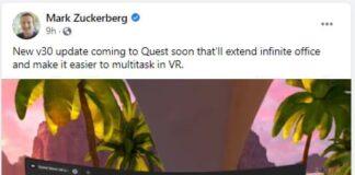 Zuckerberg says original Oculus Quest will get Air Link wireless streaming