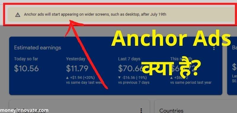 Anchor Ads Kya Hai aur Anchor Ads Enable Kaise Kare