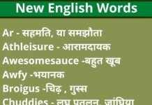 New Word Meaning In English To Hindi